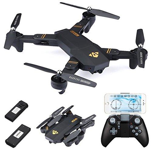 720P Quadcopter RC plegable, con 2*Batteries 900mAh, WiFi FPV / mantenimiento de altitud / Modo sin cabeza / Modo de alta y baja velocidad/Modo G-RC RC Drone (720P)