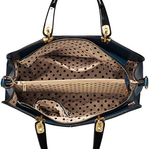 Trendstar Damen Schulter Handtaschen Damen imitat Leder Neu Fashioned Schnalle Für Leinentrage Taschen A - Marine