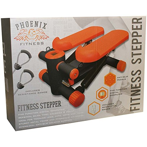 51nFsBySD0L. SS500  - Phoenix Fitness Unisex's Mini Stepper, Orange, Medium