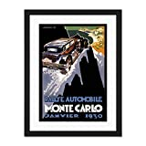Sport Advert Motor Rally Monte Carlo Monaco Large Art Print