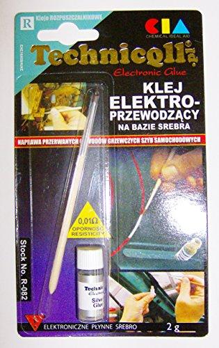 Technicqll - Colla elettroconduttiva per circuiti di riscaldamento, schede di circuiti stampati, confezione da 2 g
