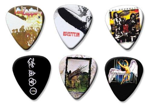 Led Zeppelin Set of 6 Loose Gitarre Plektrum Plektron Picks ( Collection E ) (Picks Guitar Led Zeppelin)