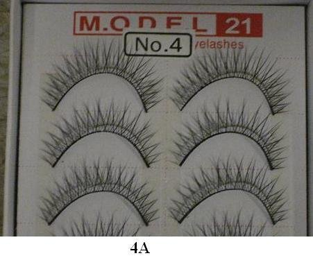 Model 21 False Eyelashes No. 4A - Light, 10 Pair by