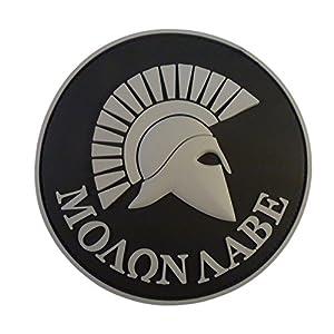 ACU Gray Spartan Molon Labe US Marine Navy Seals Morale Tactical PVC 3D Gomme Velcro Écusson Patch