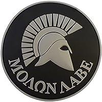 ACU Gray Spartan Molon Labe US Navy Seals Morale Tactical PVC 3D Rubber Touch Fastener Patch