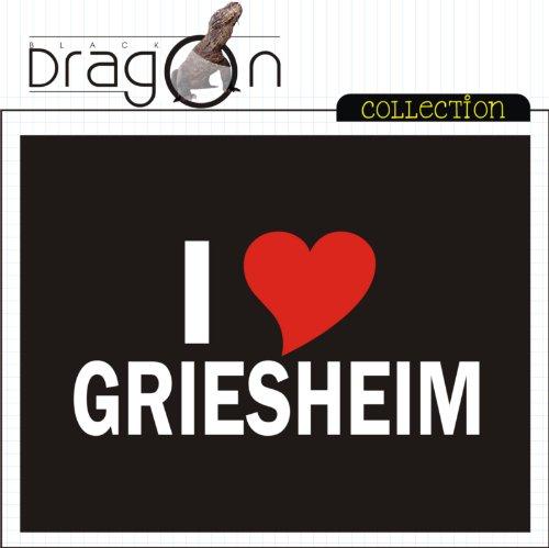 T-Shirt mit Städtenamen - i Love Griesheim - Herren - unisex Schwarz
