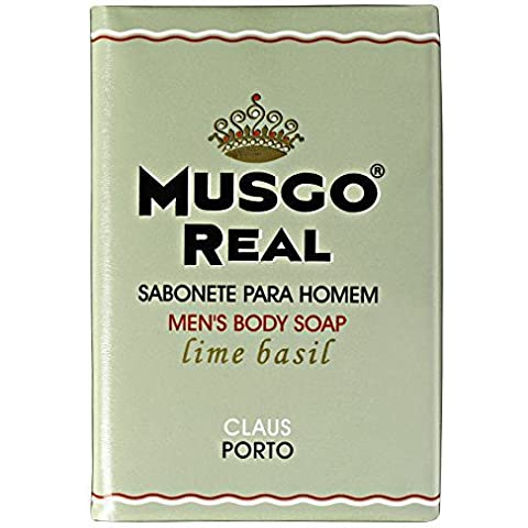 Claus Porto Musgo Real Lime Basil Men's Body Soap (160
