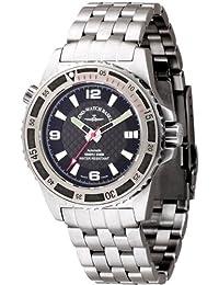 Zeno Watch Basel 6427-s1-7M - Reloj analógico automático para hombre con correa de acero inoxidable, color plateado