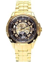 Lindberg & Sons SK14H030 - Reloj para hombre, correa color dorado de acero inoxidable