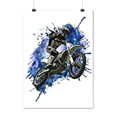 Motocross Bike Sport Car Sky Jumper Matte/Glossy Poster A1 (84cm x 60cm) | Wellcoda