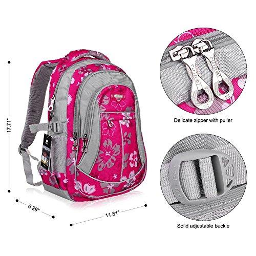 Imagen de vbiger niños  bolsa viaje  escuela con correas ajustables rosa roja 2  alternativa