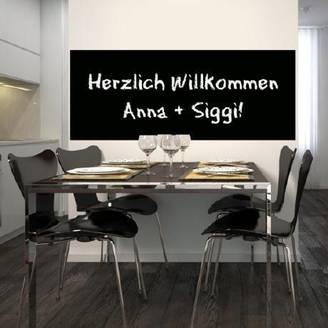 Selbstklebende Tafelfolie 120x100 - schwarz -