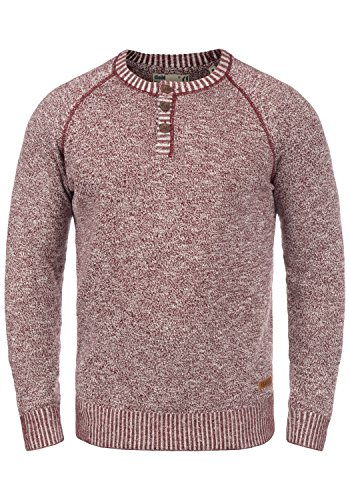 SOLID Thiago Pull en maille fine - Homme Wine Red (0985)