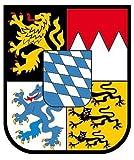 Autoaufkleber Sticker Freistaat Bayern Schild Kontur Fahne Aufkleber