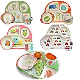 LS-LebenStil LS Design Bimbamboo Bambus Öko Kindergeschirr Set Tiere Eule 3 Teile Eco-Friendly 909934