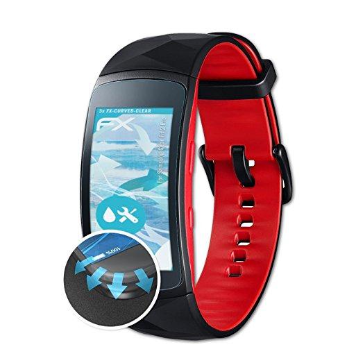 Preisvergleich Produktbild atFoliX Schutzfolie passend für Samsung Gear Fit 2 Pro Folie,  ultraklare und Flexible FX Displayschutzfolie (3X)