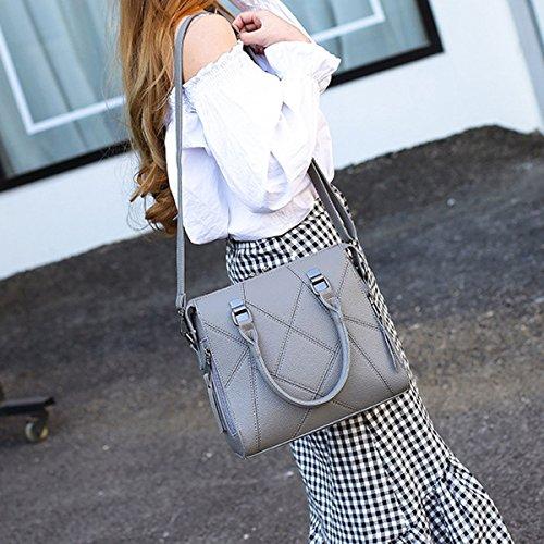 Damenmode Geometrie Bogen Umhängetasche Top-Griff Umhängetasche Tasche Handtaschen Multicolor Grey