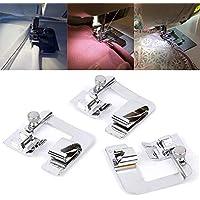 3 tamaños de pie de presión con dobladillo enrollado, máquina de coser para el adaptador
