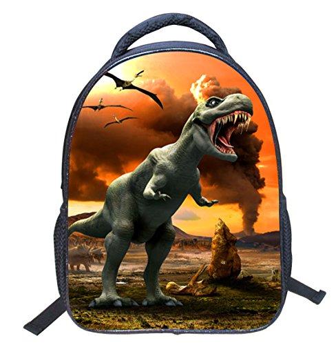 DoGeek Dinosauro Zaino Scuola Zainetti 3D Stampa Zaini Bambini Sacchetto di Scuola Borse a tracolla unisex multicolore nylon Zaini per Ragazza Ragazzo dinosauro 6