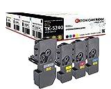 4 Original Reton Toner | 50% höhere Druckleistung | ALS Ersatz für Kyocera TK-5240 für Kyocera ECOSYS M5526cdn, M5526cdw, P5026cdn, P5026cdw