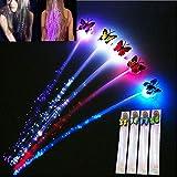 Flash LED de horquilla Fibra de mariposa de LED / Fiesta de baile de peinado trenzado (4 piezas)