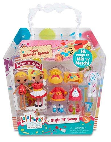Lalaloopsy Minis Style 'n' Swap Spot Splatter Splash Puppe Puppen (Mehrfarbig, weiblich, Mädchen, 4Jahr (S), 104Jahr (S), Kunststoff) (Lalaloopsy Puppe Kleid)