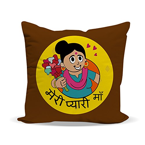 LOF Meri Pyari Maa Gifts For Mummy For Mother's Day and Birthday Anniversary Gifts 12x12 inches Printed Cushion With Filler  available at amazon for Rs.349