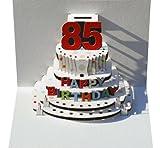 Forever Handmade Pop Up Karte zum 85. Geburtstag - eine hochwertige und originelle Geburtstagskarte, Glückwunschkarte oder Einladungskarte, auch Geschenkgutschein oder Geldgeschenk. GP092