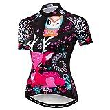 Weimostar Radfahren Jersey Frauen Mountainbike Jersey Shirts Kurzarm Rennrad Fahrrad Kleidung MTB Tops Sommer Kleidung Blau Grün Größe S