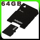 tomaxx micro SDXC Speicherkarte - 64GB Class 10 inkl. SD-Adapter für LG Q6, Samsung Note8, Note 8 Dual Sim, Nokia 8, Motorola Moto G5S, Moto G5S Plus, Nokia 9, LG Q8