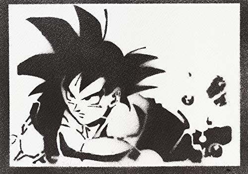 Póster Son Goku Bola De Dragón Grafiti