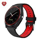 Xwly-Ft V9 Smart Watch Unabhängige SIM-Karte Sport Schritt Kamera HD Photo Call Herzfrequenz-Monitor Bluetooth MP3/MP4 Playback-Informationen Push Android/Ios,Red