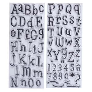 Papermania Leftovers Lot de 2 tampons Alphabet Transparent