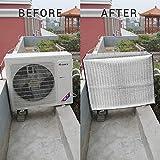 EisEyen climatizzatore Esterno per climatizzazione, Copertura Impermeabile, Protezione dalla Polvere per casa, Pellicola in Alluminio, Anti-invecchiamento, Risparmio energetico, 84 * 59 * 32CM