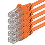 1aTTack - Cable de red UTP con conectores RJ45 (cat. 6) naranja - 5 Unidades