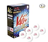 Double Fish ITTF genehmigt 3 Sterne ABS neue Material Ping Pong Bälle, 6 Pack, weiß (3star-6pack)