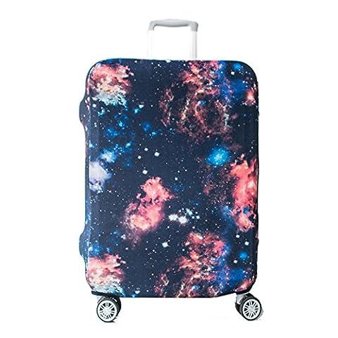 Artone Universum Galaxis Elastische Kofferschutzhülle Abdeckung Kofferhülle Schutz Bezug Luggage Cover für 29-32 Zoll Koffer Schwarz
