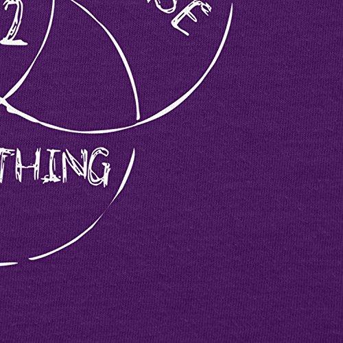 NERDO - 42 is the Answer - Damen T-Shirt Violett