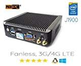 Perfect pfSense, Sophos, Untangle, Ubuntu, ClearOS, FreeBSD, MonowaIl, Debian Intel Celeron Quad Core J1900 4 LAN PICO PC with 4G Firewall Router Fanless 8GB RAM, 60GB SSD Mini PC