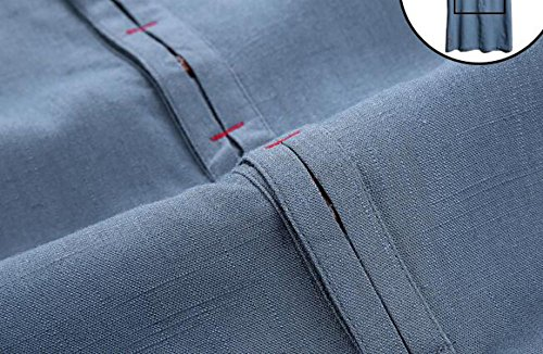Sommermänner V-Ausschnitt T-Shirt Art Und Weise Der Großen Yards Loser Pullover Kurzhülse Baumwoll-T-Shirt Blue