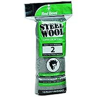Red Devil 0315 Steel Wool, 2 Medium Course, (Pack of 16)
