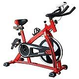 MMSZ Cyclette da Allenamento, Home Trainer Cyclette da Casa Ellittica Macchine Bici da Spinning per Training Aerobico Tranquillo Stazionario Spin Bike,Carico Massimo 100 kg