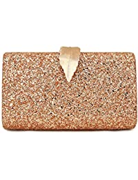 328e01f14 Flada Bolso de Noche Bolsos de Embrague para Las Mujeres Sparkling Glitter  Bling Bolso de Noche monederos para Boda…