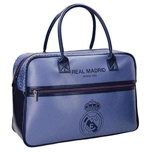 Real Madrid Blue RM Bolsa de Viaje, 49 cm, 29.79 litros, Morado