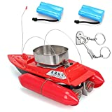 Blueskysea New Carp Fishing Bait Boat RC Boilies Runtime 15Hours 1200g T10 Anti Grass Wind with free gift (boat+extra 2 batteries, Red)