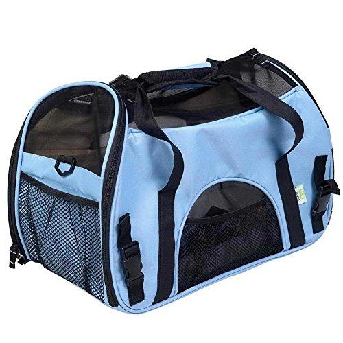 Pet Travel Carrier Box Hund Pet Tasche Komfort Atmungsaktiv Hunde Käfig Outdoor Schlafsack Außen Schulter Messenger Pet Kit Griff Fenster Hund Universal Rucksack, 6, L