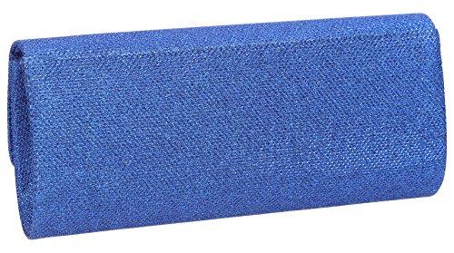 Sally Sparkle Damen Clutch, glitzernd, Umschlaglasche Royal Blue (2)