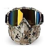 Daesar Schießbrille Sportschützen Motorradbrille Herren Schutzbrille Infrarotlampe Camo