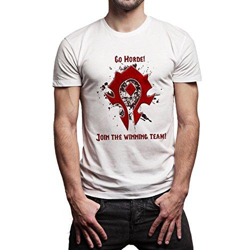 Worlf Of Warcraft Heroes Blizzard Go Horde Joing The Winning Team Herren T-Shirt Weiß