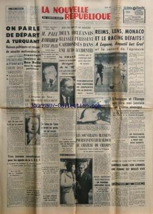 NOUVELLE REPUBLIQUE (LA) [No 5197] du 16/10/1961 -...